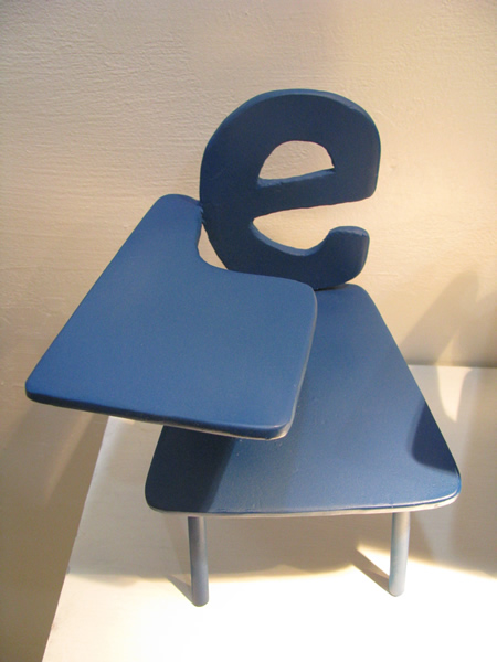 e letter chair - 2